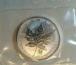 2004-Gemini-Privy-Maple-Leaf-1-oz-9999-Silver-Coin-Canada-with-COA-mint-sealed