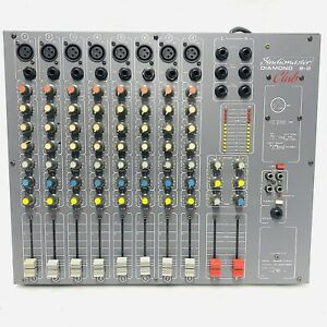 Vintage STUDIOMASTER Diamond 8-2 Club Mixer - 8 Channels, Tested & VGC FREE POST