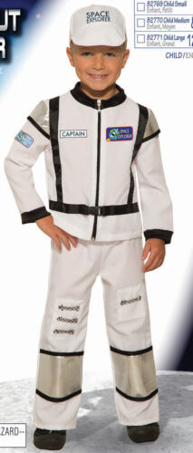 Astronaut Explorer White Hat Shirt Pants Child Costume NEW
