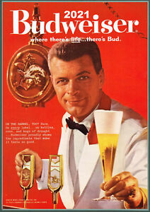 2021 calendrier mural [12 pages A4] Budweiser Bière Ads Vintage