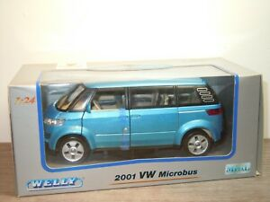 VW-Volkswagen-Microbus-2001-Welly-1-24-in-Box-31864