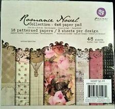 ROMANCE NOVEL by Prima Marketing 6 x 6 Paper Pad DISCONTINUED HTF