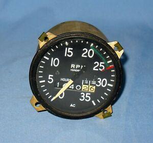 Cessna RPM Gauge Tach Tachometer Indicator 0-35 Aircraft Instruments Equipment