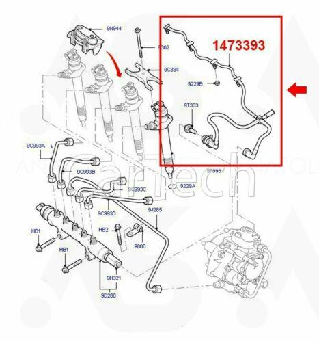 Relé Citroen Peugeot Boxer 2.2 Hdi Inyector De Combustible Fuga apagado 1574.L4 Tubo de retorno