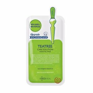 MEDIHEAL-Teatree-Care-Solution-Essential-Mask-EX3-Upgraded-1-Sheet-UK-Seller