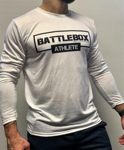 Battlebox athlète WOD Haut D/'Entraînement T-shirt à manches longues blanc Crossfit Fitness