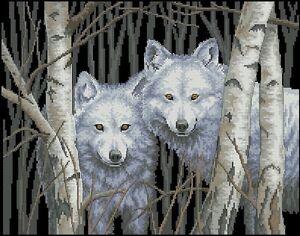 White-Magic-Wolf-Portrait-Cross-Stitch-Chart-FREE-POST