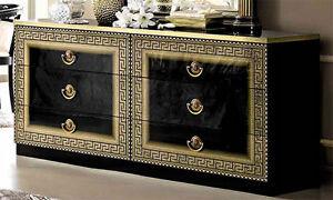 Kommode design schwarz  Luxus Kommode Aida Schwarz Gold Klassisches Design Stilmöbel aus ...
