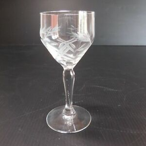 Détails sur Verre liqueur eau de vie cristal vintage art nouveau déco design XX France N4795