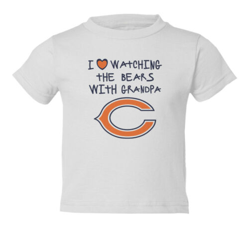 Chicago Bears I Love Watching With Grandpa Kids Toddler T-Shirt