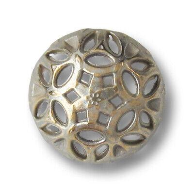 6 hübsche Trachtenknöpfe aus Metall in altmessing mit Durchbruchmuster 3362am