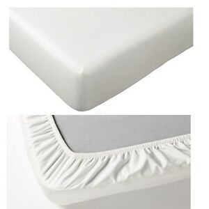 Superbe Image Is Loading IKEA FARGMARA 100 Pure Cotton White Fitted Bed