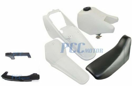 NEW Yamaha PW80 PW 80 TANK SEAT PLASTIC KIT W// Chain Guard  WHITE U PS52