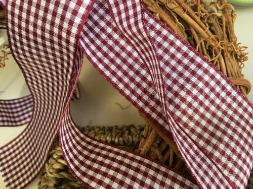 Berisfords Uk Gingham Ribbon 5//10//15//25//40 mm widths Choose colour /& Length