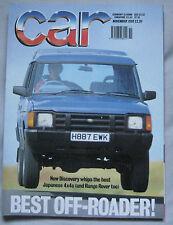 CAR 11/1990 featuring Jaguar XJS, Land Rover, Toyota, Mitsubishi, Range Rover