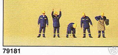 Preiser N 79181 THW Helfer,Schweißer 5 Figuren NEU OVP-