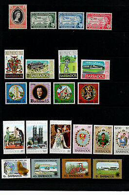 1953/1983 Seven Great Sets Of Mint Stamps Barbados Details Below Cat.£11.25 Attractive Fashion