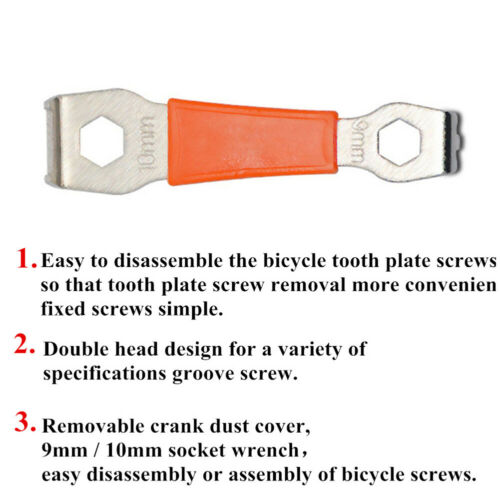 Bicycle Chainring Bolts Crankset Nut Wrench Chainwheel Dismounting Crank Surpise