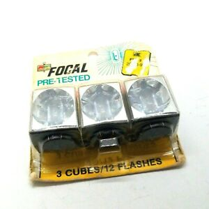 Focal Flashcubes Box of 3 - 12 Flashes Kmart Brand Original Packaging Unopened