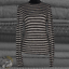 miniature 1 - Vince Womens Gray Wool Striped Rib Knit Long Sleeve Pullover Sweater Top Size M