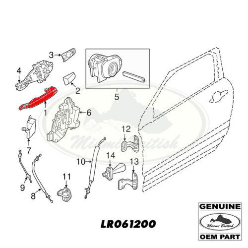 LAND ROVER FRONT//REAR DOOR OUTER HANDLE RANGE SPORT 14-18 LR061200 OEM