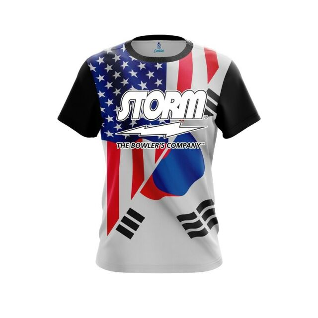 CoolWick Storm USA Cuban Flag Bowling Jersey