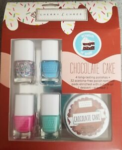Details About Cherry Chree Boxed Nail Polish Set Chocolate Cake Scented