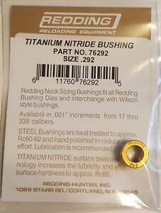 76292 Redding Nitrure De Titane .292 Cou Taille Bague-brand New-free Ship-afficher Le Titre D'origine