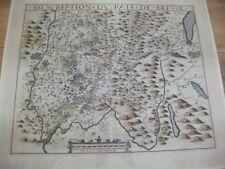 1619. Description du pais de Bresse. Kol. Karte, französische Alpen, Frankreich