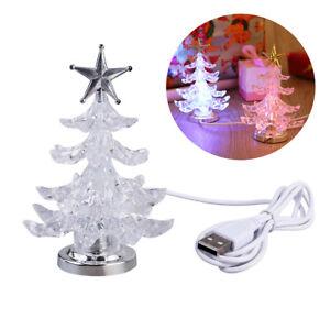 Glowing Christmas Tree LED Light USB Night Light RGB 7 Color Flashing Light Tabl