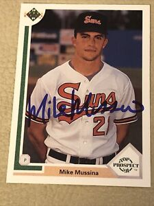 1991 Upper Deck Mike Mussina #65 Signed Auto Autograph RC Card TTM