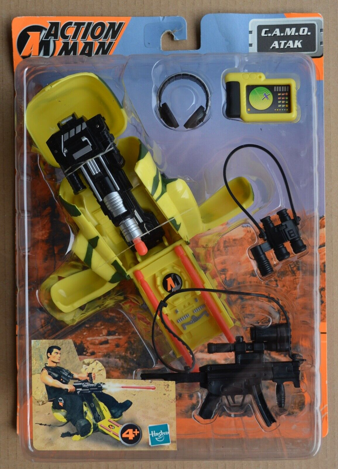 Action Action Action Man 2001 C.A.M.O ATAK CAMO ATTACK Hasbro Boxed Unused ACCESSORIES ae85fd