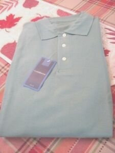 Croft-amp-Barrow-Mens-Size-Large-Tall-Mint-Green-Polo-Golf-Shirt-New-with-Tags