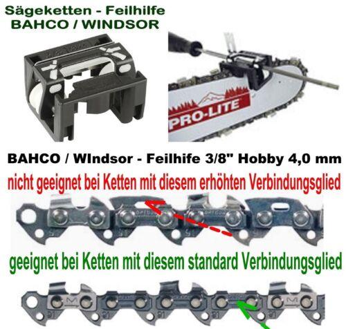 """Feilhilfe BAHCO leichtes Kettenschärfen 3//8/"""" Hobby Kette ohne Sicherheitsglied"""