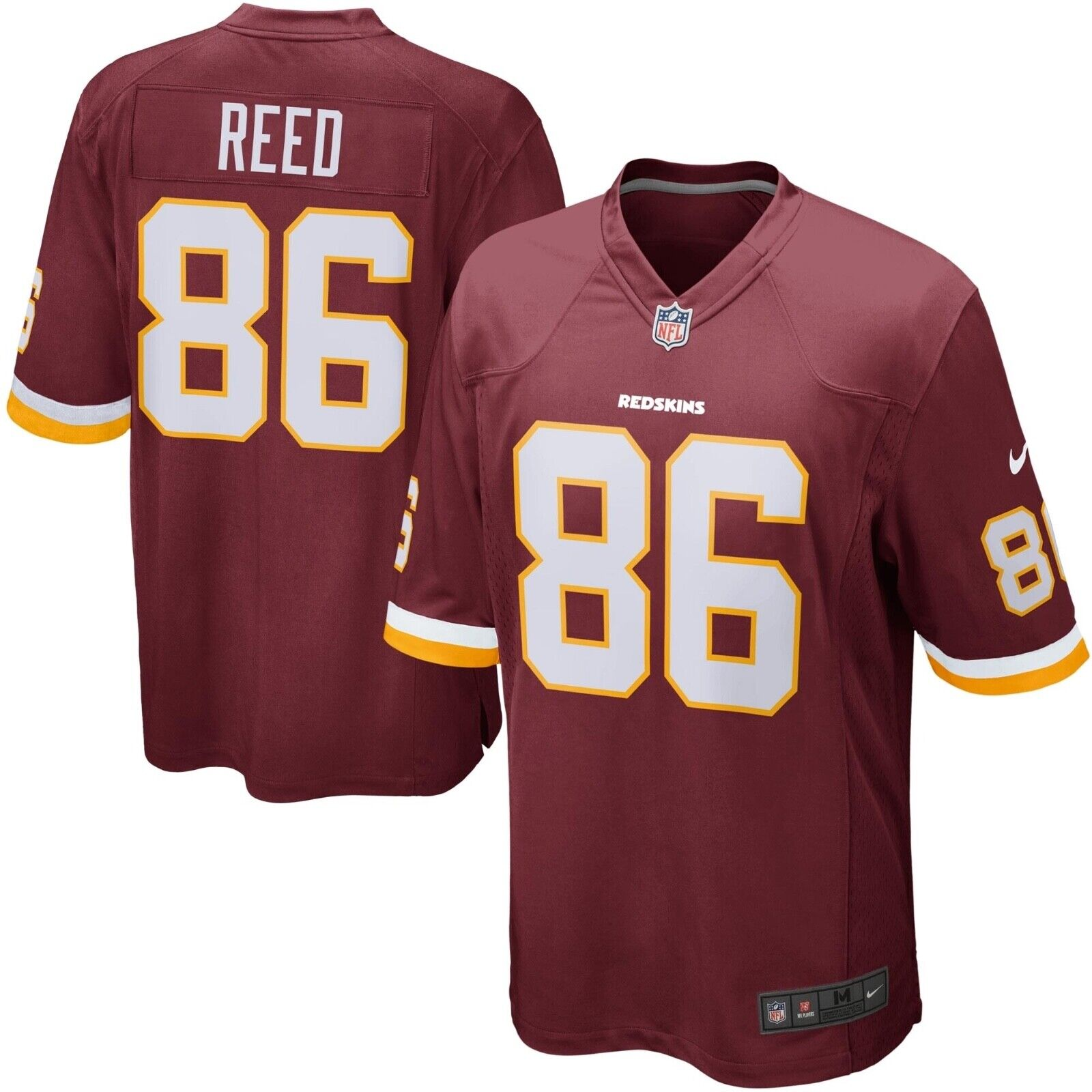 Jordan Reed Washington Redskins Nike on Field Men's XL Jersey NFL