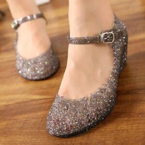 Image Is Loading Jelly Shoe For Women High Heels Glass Slipper