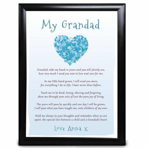 Personalised Best Uncle Gifts Birthday Thank You Present Keepsake Poem Print