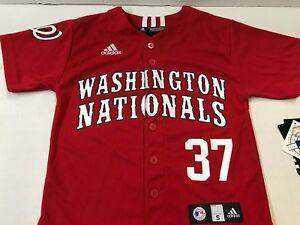 futócipő alacsony költségű vadonatúj WASHINGTON NATIONALS MLB ADIDAS NAME & NUMBER JERSEY STRASBURG ...