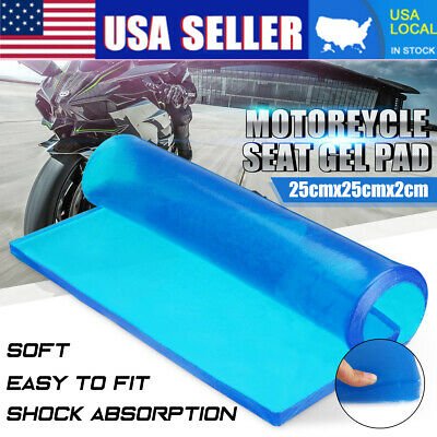 Motorcycle Seat Gel Pad Shock Absorption Damping Mat Comfortable Soft Cushion