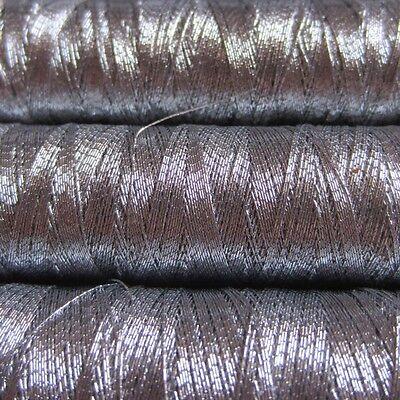 ROXANA metallized embroidery yarn, wind of 60m, SILVER