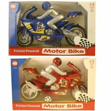 Friction Powered Kids Toy Motorbike Motorcycle Bike with Figure 22cm NEW
