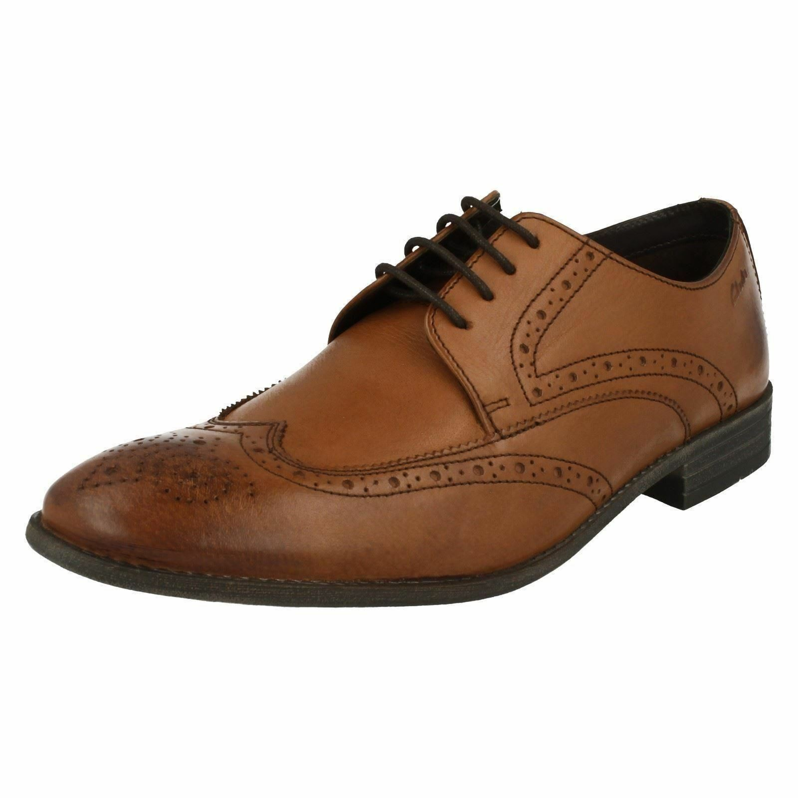 Leder Herren Clarks Chart Limit Leder  Smart Lace Up Brogue Schuhes G Fitting 7c9154