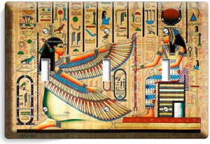 Details About Ancient Egyptian Desses Maat Isis 3 Gang Light Switch Plate Wall Art Hd Decor