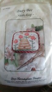 Lorri-Birmingham-Needle-Keep-Busy-Bee-counted-cross-stitch-kit