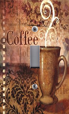 Light Switch Plate Switchplate Cover CAFE COFFEE  CUP MUGS~