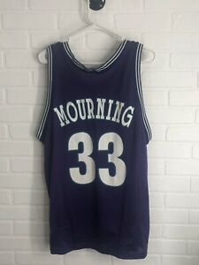 new concept bdb20 ad577 Details about Vintage Champion Alonzo Mourning Charlotte Jersey Size 44