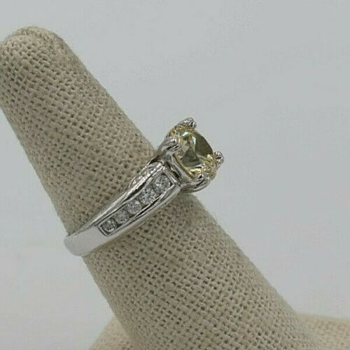 SALE Silver Plated Colourful Crystal CZ Baguette Square Cocktail Ring Size R//8.5