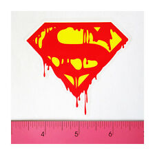 Skateboard Laptop Guitar Bumper PVC Sticker - Bloody Dripping Melting Superman