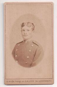 Vintage-CDV-German-Soldier-Military-Uniform-G-Koch-Photo-Ludwigsburg