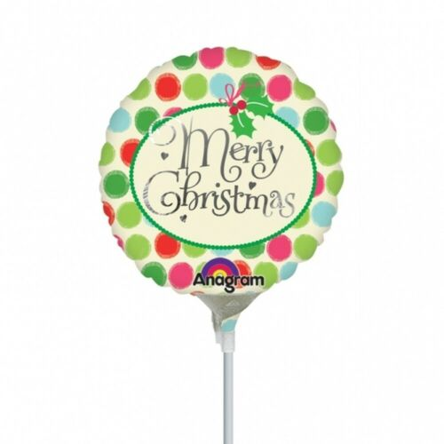 "100 x 9/"" 23 cm Merry Christmas Foil Balloons Bulk Wholesale Joblot Helium Air"